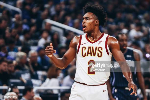 Collin Sexton of the Cleveland Cavaliers on the court against the Orlando Magic in the 1st quarter at Amway Center on October 23 2019 in Orlando...