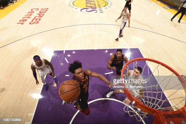 Collin Sexton of the Cleveland Cavaliers shoots the ball against the Los Angeles Lakers on January 13 2019 at STAPLES Center in Los Angeles...