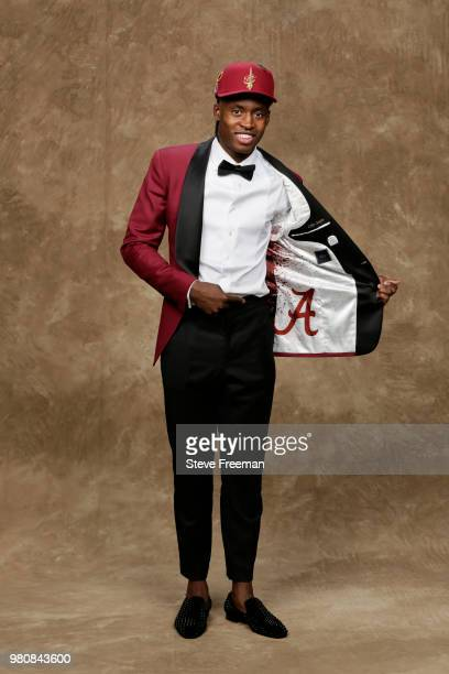 Collin Sexton poses for a portrait after being drafted by the Cleveland Cavaliers during the 2018 NBA Draft on June 21 2018 at Barclays Center in...