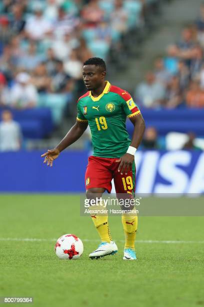 Collins Fai of Cameroon runs with the ball during the FIFA Confederations Cup Russia 2017 Group B match between Germany and Cameroon at Fisht Olympic...