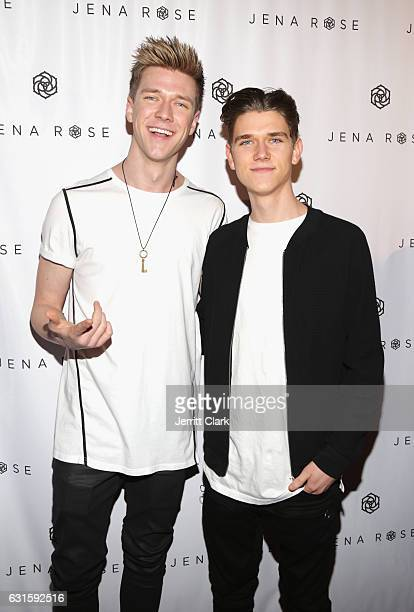 Collins Key and Devan Key attend Singer Jena Rose's Birthday Celebration At Bardot on January 12 2017 in Hollywood California
