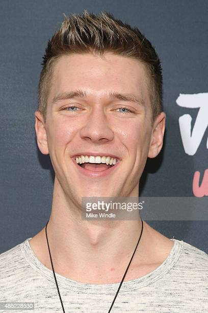 Collins Key attends the premiere of Awesomeness TV's Janoskians Untold and Untrue at Regency Bruin Theatre on August 25 2015 in Los Angeles California
