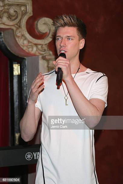 Collins Key speaks onstage during Singer Jena Rose's Birthday Celebration At Bardot on January 12 2017 in Hollywood California