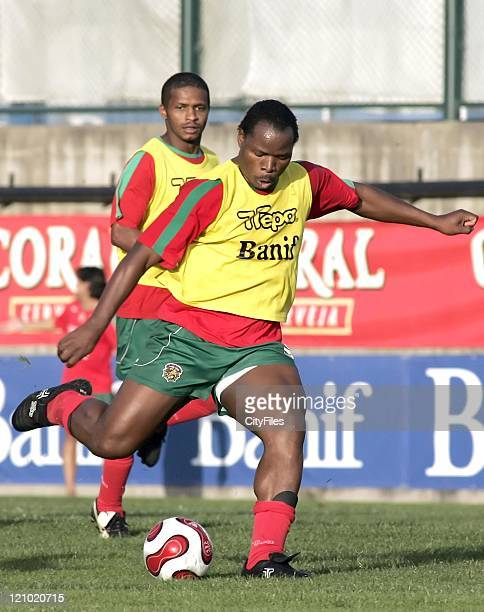 Collins Mbesuma during a training session with Maritimo January 15 2007