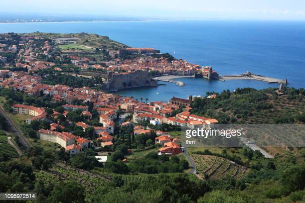 collioure - famous historic village in south of france (cote vermeille, france) - languedoc rousillon stock pictures, royalty-free photos & images