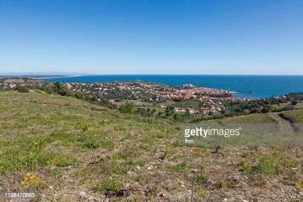 collioure - historic village in france (cote vermeille, france) - catalogne photos et images de collection