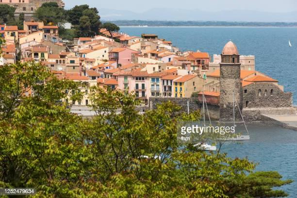 collioure - historic village in the south of france (cote vermeille, france) - collioure photos et images de collection