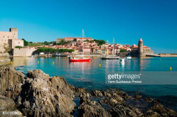 collioure, pyrenees orientales, occitanie, france - collioure photos et images de collection
