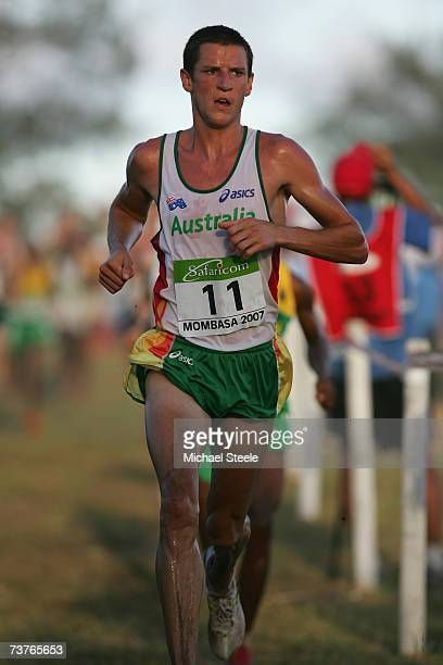 Collis Birmingham of Australia in the the men's senior race at the IAAF World Cross Country Championships on March 24 2007 in Mombasa Kenya
