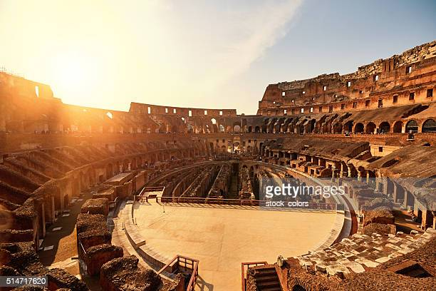 colliseum in the sunset - colosseum stock pictures, royalty-free photos & images