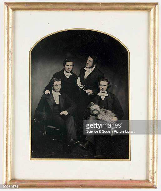 A collodion positive of the Reverend Errington and his curates taken by an unknown photographer in about 1854 The Reverend W Errington was Rector of...