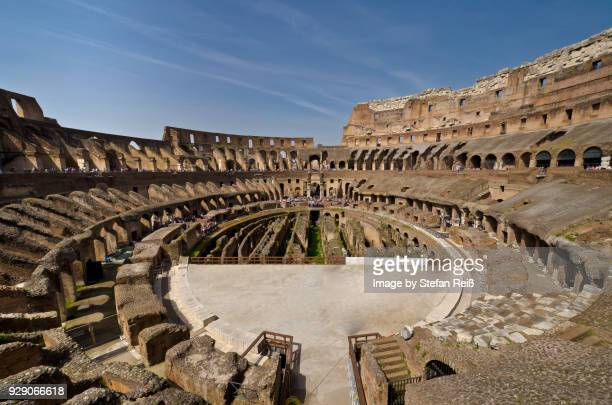 colloseo of rome - inside the roman colosseum stock photos and pictures