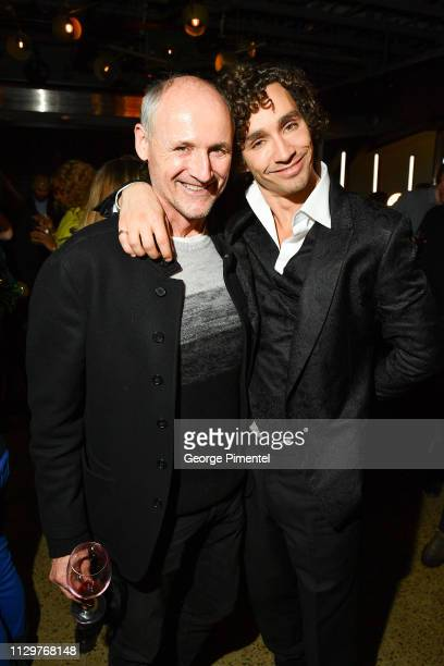 Colm Feore and Robert Sheehan attend the after party of Netflix's 'The Umbrella Academy' at The Drake Hotel on February 14 2019 in Toronto Canada