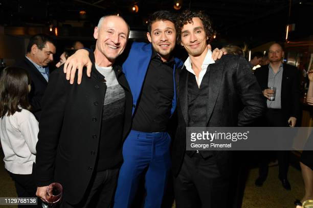 Colm Feore David Castaneda and Robert Sheehan attend the after party of Netflix's 'The Umbrella Academy' at The Drake Hotel on February 14 2019 in...