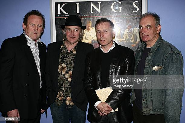 Colm Meaney and cast members Donal O'Kelly Brendan Conroy and Donncha Crowley at the Irish premiere of Kings in Cineworld Parnell Street on September...
