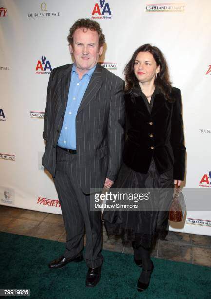 Colm Meaney and Ines Glorian arrives to the USIreland Alliance PreAcademy Awards at the Wilshire Ebell Theatre on February 21 2008 in Los Angeles...