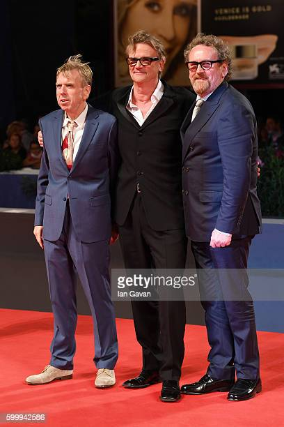 Colm Meaney Nick Hamm and Timothy Spall attend the premiere of 'The Journey' during the 73rd Venice Film Festival at Sala Grande on September 7 2016...