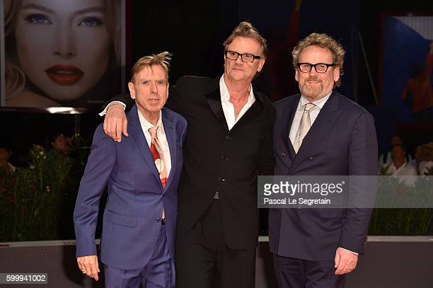 Colm Meaney Nick Hamm and Timothy Spall attends the premiere of 'The Journey' during the 73rd Venice Film Festival at Sala Grande on September 7 2016...