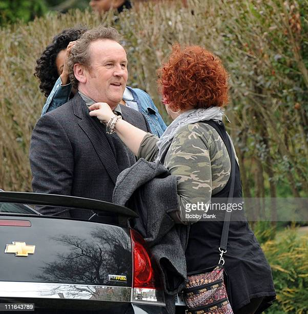 Colm Meaney on location for Law Abiding Citizen on the streets of Philadelphia on March 27 2009 in Philadelphia Pennsylvania
