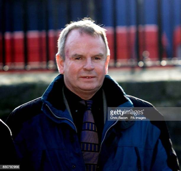 Colm Murphy from Dundalk Co Louth arrives at Dublin's Special Criminal Court to hear the verdict of three judges in connection with 1998 Omagh...