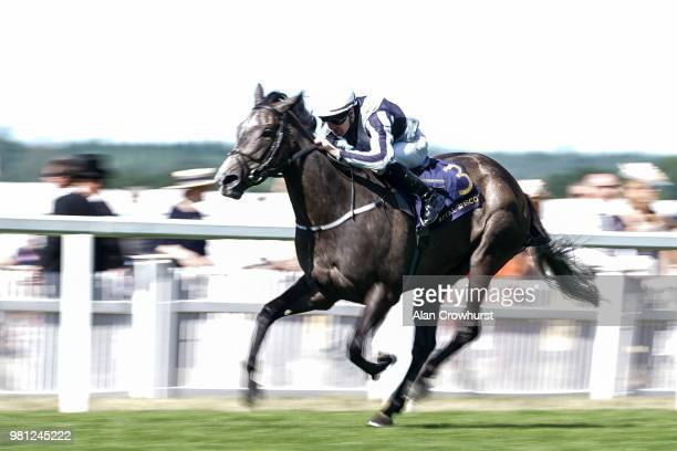 Colm O'Donoghue riding Alpha Centauri win The Coronation Stakes on day 4 of Royal Ascot at Ascot Racecourse on June 22 2018 in Ascot England ***...