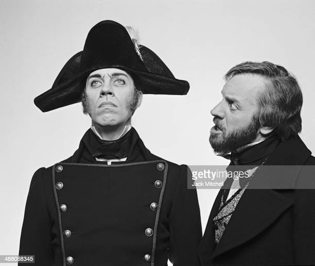 Colm Wilkinson and Terrence Mann starring in 'Les Miserables' on Broadway February 1987