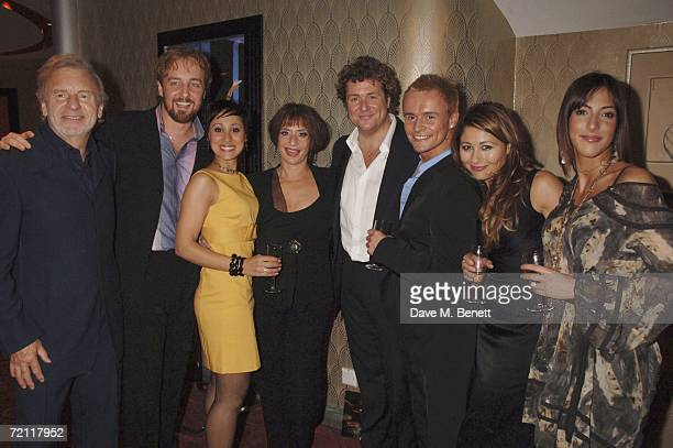 Colm Wilkinson Sophia Ragavalas Patti LuPone Michael Ball Jon Lee Frances Ruffelle and Sabrina Aloueche attend the 21st Birthday Performance party of...