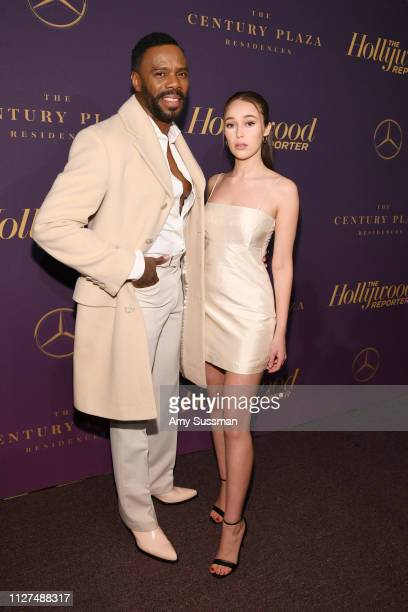 Colman Domingo and Alycia Debnam Carey attend The Hollywood Reporter 2019 Oscar Nominee Party at CUT on February 04 2019 in Beverly Hills California