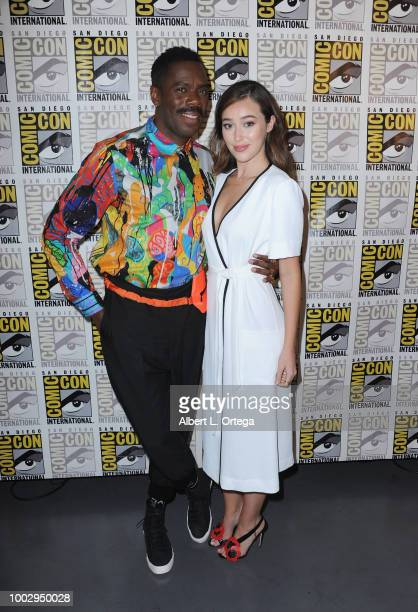 Colman Domingo and Alycia DebnamCarey attend AMC's 'Fear The Walking Dead' panel during ComicCon International 2018 at San Diego Convention Center on...