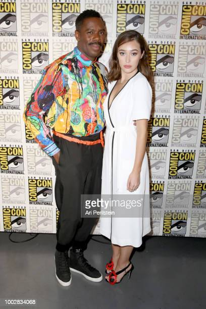 Colman Domingo and Alycia DebnamCarey attend the 'Fear the Walking Dead' panel with AMC during ComicCon International 2018 at San Diego Convention...