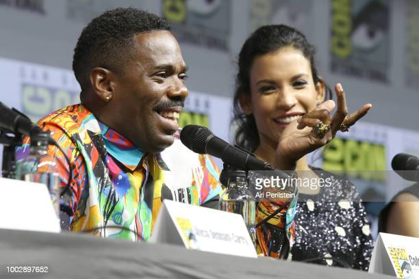 Colman Domingo and Danay Garcia attend the 'Fear the Walking Dead' panel with AMC during ComicCon International 2018 at San Diego Convention Center...