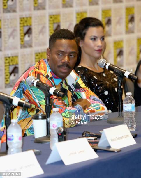 Colman Domingo and Danay Garcia attend the 'Fear the Walking Dead' autograph signing with AMC during ComicCon International 2018 at San Diego...