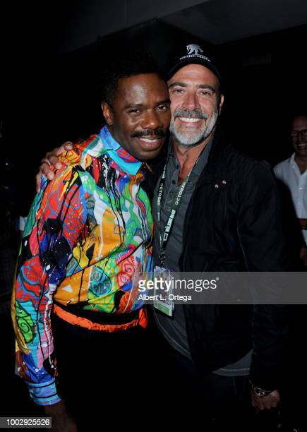 Colman Domingo and Jeffrey Dean Morgan attend AMC's 'Fear The Walking Dead' panel during ComicCon International 2018 at San Diego Convention Center...