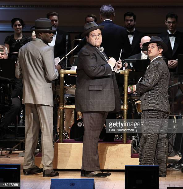 Colman Domingo and Nathan Lane perform Guys And Dolls at Carnegie Hall on April 3 2014 in New York City