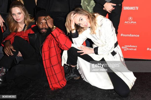 Colman Domingo and Suki Waterhouse attend the 'Assassination Nation' Premiere during the 2018 Sundance Film Festival at Park City Library on January...