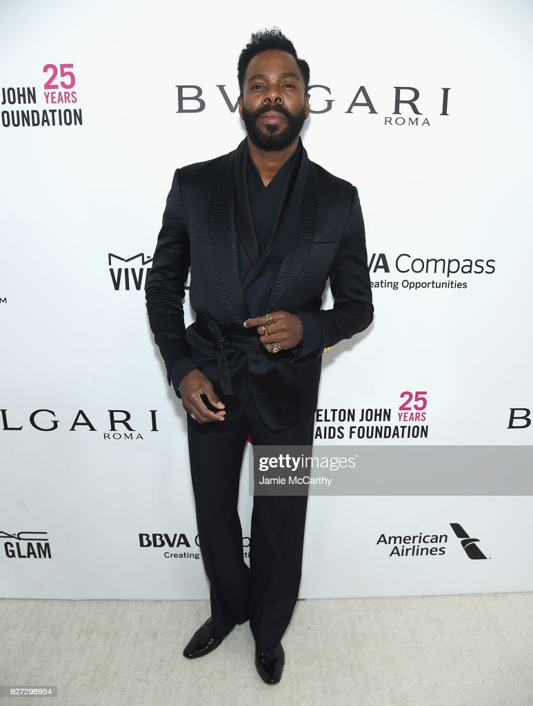Colman Domingo attends the 26th annual Elton John AIDS Foundation Academy Awards Viewing Party sponsored by Bulgari, celebrating EJAF and the 90th Academy Awards at The City of West Hollywood Park on March 4, 2018 in West Hollywood, California.