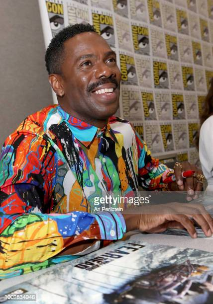 Colman Domingo attends the 'Fear the Walking Dead' autograph signing with AMC during ComicCon International 2018 at San Diego Convention Center on...