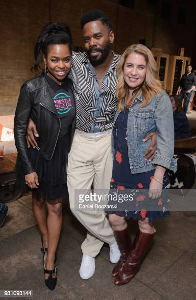 Colman Domingo Elvire Emanuelle and writer and director Olivia Newman attend the after party following the premiere of 'First Match' on March 12 2018...