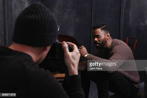 Colman Domingo from 'Assassination Nation' attends The Hollywood Reporter 2018 Sundance Studio at Sky Strada Park City on January 22 2018 in Park...