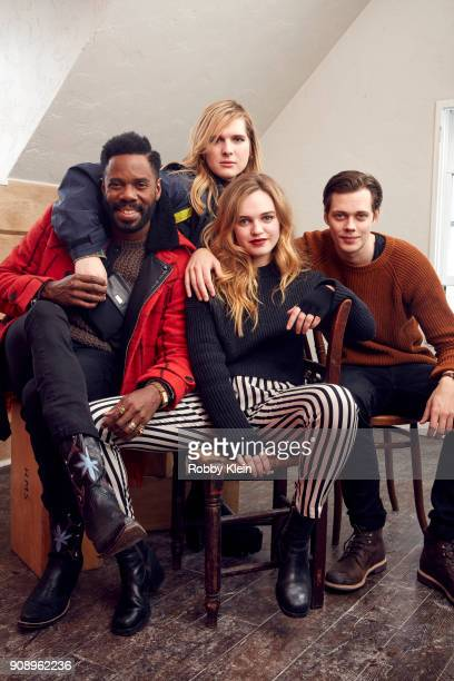 Colman Domingo Hari Nef Odessa Young and Bill Skarsgard from the film 'Assassination Nation' pose for a portrait in the YouTube x Getty Images...