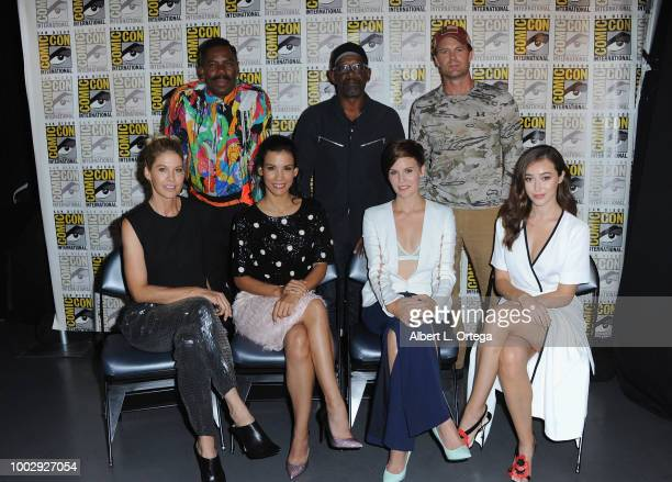 Colman Domingo Lennie James and Garret Dillahunt Jenna Elfman Danay Garcia Maggie Grace and Alycia DebnamCarey attend AMC's 'Fear The Walking Dead'...