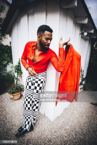 """Colman Domingo, nominee for Best Supporting Male in """"Ma Rainey's Black Bottom"""", is seen in his award show look for the 2021 Independent Spirit Awards..."""