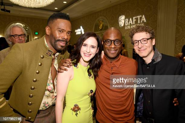 Colman Domingo Rachel Brosnahan Barry Jenkins and Nicholas Britell attend The BAFTA Los Angeles Tea Party at Four Seasons Hotel Los Angeles at...