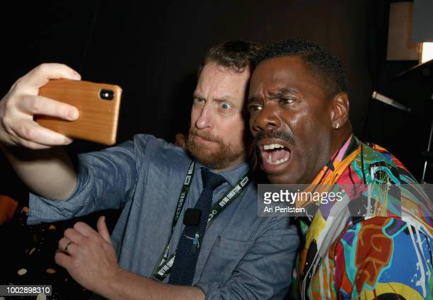 Colman Domingo takes a selfie at the 'Fear the Walking Dead' panel with AMC during ComicCon International 2018 at San Diego Convention Center on July...