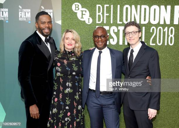 Colman Domingo Tricia Tuttle Barry Jenkins and Nicholas Britell attend the European Premiere of If Beale Street Could Talk Love Gala during the 62nd...