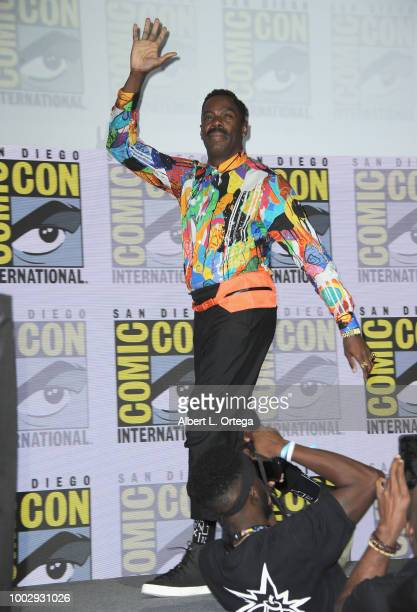 Colman Domingo walks onstage at AMC's 'Fear The Walking Dead' panel during ComicCon International 2018 at San Diego Convention Center on July 20 2018...