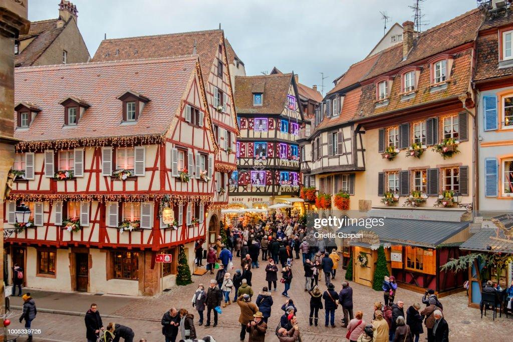 Colmar at Christmas (Alsace, France) : Stock Photo
