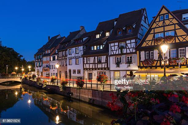 colmar in the evening, france - frans sellies stockfoto's en -beelden