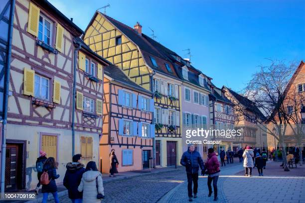colmar, petite venice (alsace, france) - colmar stock photos and pictures