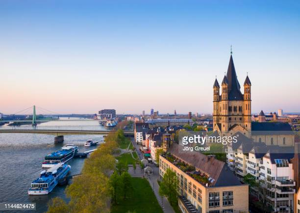 cologne at dawn - cologne stock pictures, royalty-free photos & images